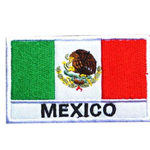 Bandera Mexicana Bordado De Parches Parches