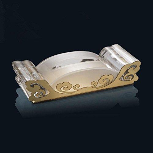CanKun Kreatives Design Tissue Box Cover Papier Serviette Box Spender für Home Office Auto Dekor , gold mirror