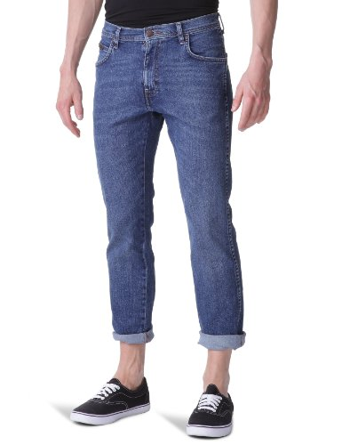 Wrangler - Arizona Stretch - Jeans - Droit - Homme Bleu (Used)