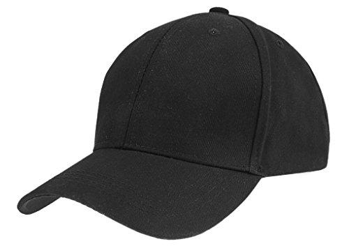 Black Classic Cotton Basic Solid Sports Baseball Cap Travel Camping Golf  Sunhat Sun Visor for Mens 8ba7b834d17