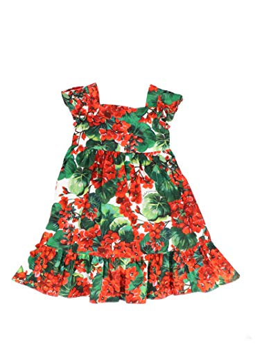 DOLCE E GABBANA Kleines Mädchen L21dg6hs5clhav03 Rot Baumwolle Kleid - Dolce Gabbana Kleid Schuhe