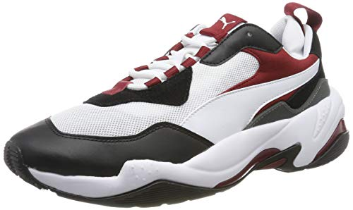 PUMA Thunder Fashion 2.0, Zapatillas Deportivas Unisex Adulto, Multicolor (Puma White-Puma Black-Rhubarb) , 39 EU