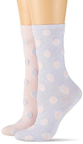 Tommy Hilfiger Damen TH Women Lurex Dot Sock 2P, 2er Pack, Grau (Silver 500), 39/42