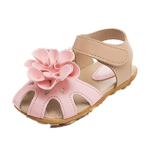 Mädchen schuhe Jamicy® Mädchen kühle Sommer Sandelholz skidproof Kleinkind Kind Blumen Schuhe (27, Rosa) Rosa