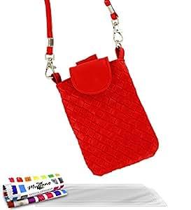 """Tasche Nokia Lumia 520[CityPoche Premium] [rot] von MUZZANO + 3Schutzfolien Set """"UltraClear + Eingabestift und Reinigungstuch Muzzano® angeboten–Der Schutz stoßfest ultimative, elegante und nachhaltige für Ihr Nokia Lumia 520"""