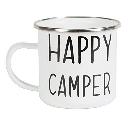 """Emaillierte Kaffeetasse \""""Happy Camper\"""""""