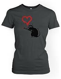 Liebesratte Banksy Damen T-Shirt