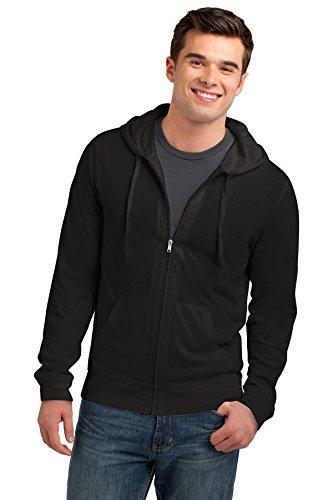 District® Young Mens Jersey Full-Zip Hoodie. DT1100 Black 4XL