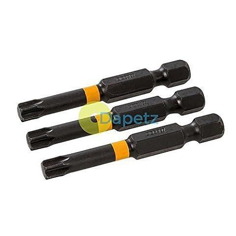 Tournevis Torx Impact Bit T30Premium à Couple élevé en acier S2perceuses 50mm 3pcs