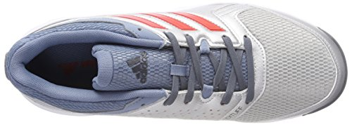 adidas Essence, Chaussures de Handball Homme Rouge (Silver Metallic/hi-res Red/raw Grey)