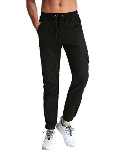 StyleDome Herren Jogginghosen Designer Chino Trainingshose Camouflage Hose Stoff Chinohose Regular Fit Schwarz 4