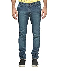 Trendy Trotters Cotton Non-Stretchable Green Denim Jeans