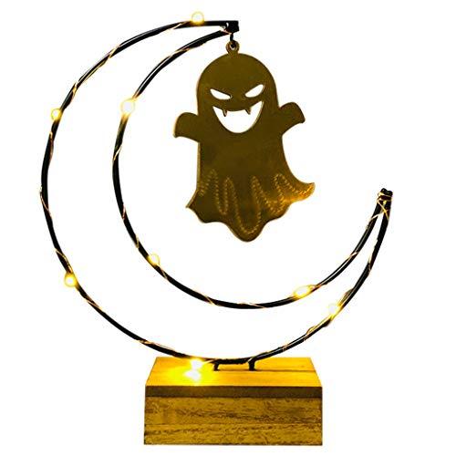 Myspace 2019 Neueste Dekoration für Halloween Urlaub Lichter Mond Pendelleuchten Kürbis Lichter Led Lichter (B)