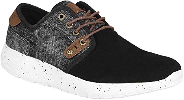 Bassed Lona Sneaker Schwarz  Billig und erschwinglich Im Verkauf