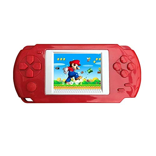 "CWeep Console Handheld Game Console Gaming Player, 16 Bit Retro Game Player with 3.2"" LCD Big Screen and Built-in 268 Classic Games, Best Gift for Kids (Red)"