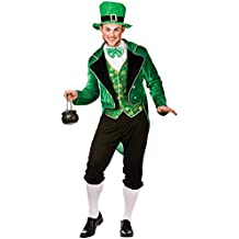 "Hombres Deluxe Leprechaun - traje de disfraz de adultos (M - 41"" Chest)"