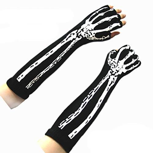 Seltene Kostüm Halloween - LIANGchueng seltene Erwachsenen-Handschuhe für Halloween-Kostüm, Totenkopfskelett/Fingerknochen für Zuhause, Dekoration 2