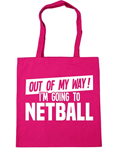 hippowarehouse-out-of-my-way-im-going-to-netball-tote-shopping-gym-beach-bag-42cm-x38cm-10-litres