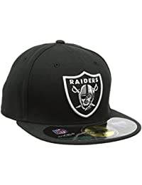 New Era Erwachsene Baseball Cap Mütze NFL On Field Oakland Raiders 59 Fifty Fitted