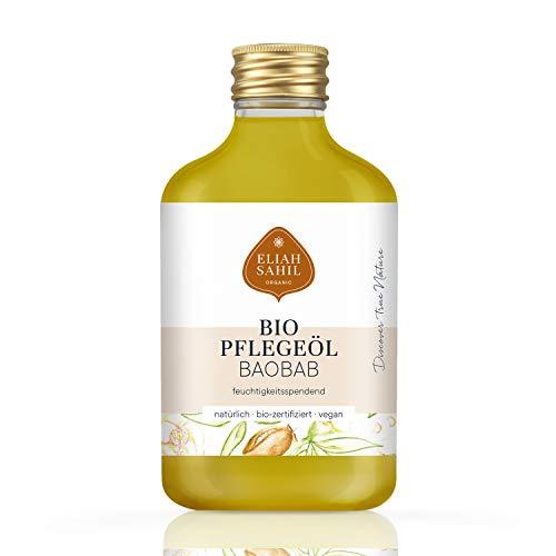FEINSTES BIO BaoBab Pflegeöl - parfümfrei und ohne künstliche Zusatzstoffen - 100% BIO zertifizierte Naturkosmetik - VEGAN und Tierversuchsfrei - 100 ML Adansonia Öl - Baby-massage-behandlung