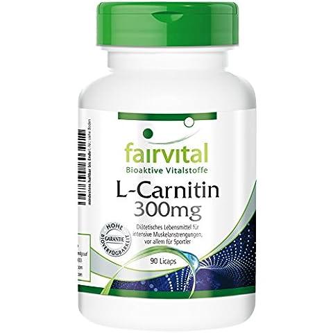 Fairvital - L-Carnitina 900mg per 3 capsule - 90 Licaps® vegetali
