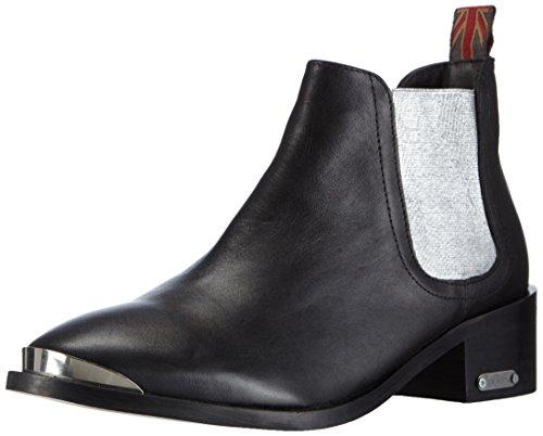Pepe Jeans ANGIE ELASTIC, Stivaletti a gamba corta mod. Chelsea, imbottitura leggera donna, Nero (Schwarz (934SILVER)), 38