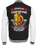Shirtee Kultmotiv DDR - Ossi - Sturm UND Wind - College Sweatjacke