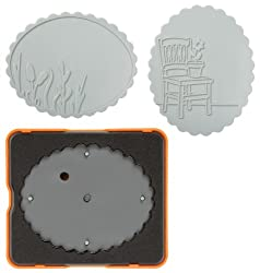 Fiskars 0083 M DESIGN SET THICK MAT SCALLOP OVAL