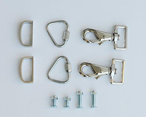 Amesbichler Pferdedecken Verschluss Set für ein einfaches Öffnen und Schließen, Pferdedecken Brustverschluß, Pferdecken Riemenverlängerung