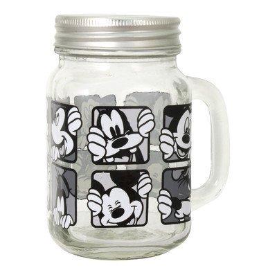 Disney RSquared Mickey Grid Mason Jars (Set of 2), Multicolor by Disney