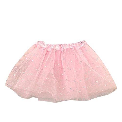 Koly Vestido de fiesta de la princesa con Brillos de Ballet para Niñas (Rosa)