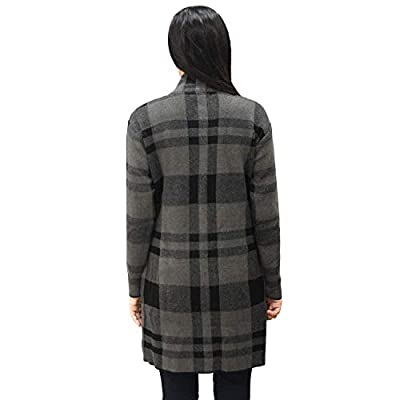 Matelco Women's Checks Woollen Coat with Pockets