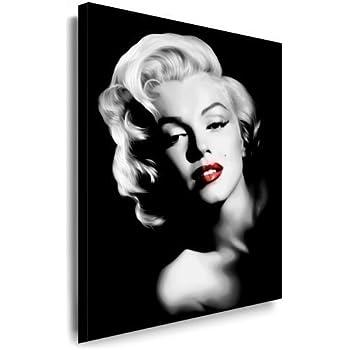 120x80cm leinwandbild auf keilrahmen marilyn monroe portrait gesicht schwarz wei. Black Bedroom Furniture Sets. Home Design Ideas
