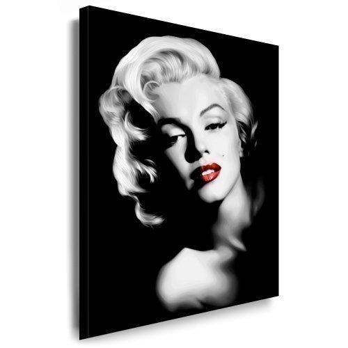"""Imagen sobre Lienzo """"Marilyn Monroe"""" 100x70 cm Póster Pequeño Cuadro Preparado sobre Marco Impresión Digital Para Decorar - Estrellas De Cine"""