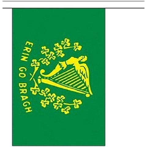 3 metros 10 (22,86 cm x 15,24 cm) de la bandera de Erin Go Bragh Southern irlandés de Irlanda 100% poliéster Material banderines de fiesta Ideal para decorar Street House Pubs colegios de palos de