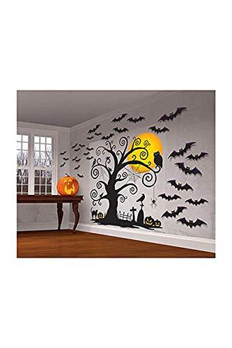 Halloween Kostüm Familienfreundliche - amscan, familienfreundliche Wanddekoration Deko-Set 2