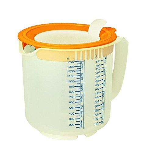 Leifheit 3168 3in1 Messbecher Measure & Store 1,4 L (Ausgestattet Sahne)