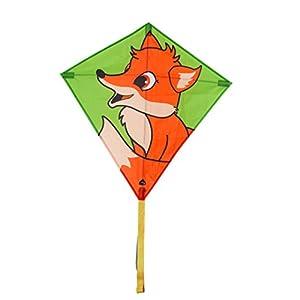 Invento 100125-Eddy Fox Niños Dragón einleiner, a partir de 5años, 68x 68cm y 2m Dragón Cola Ripstop de poliéster 2-5Beaufort