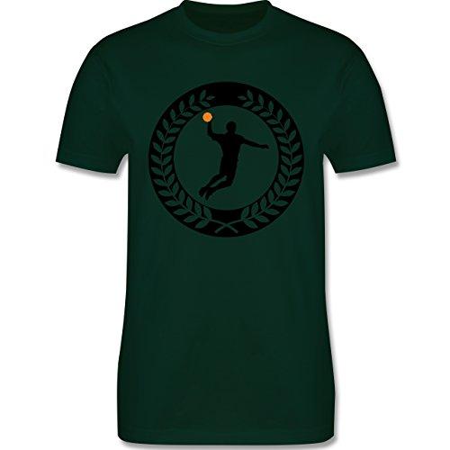 Handball - Handball Sichel Kranz - Herren Premium T-Shirt Dunkelgrün