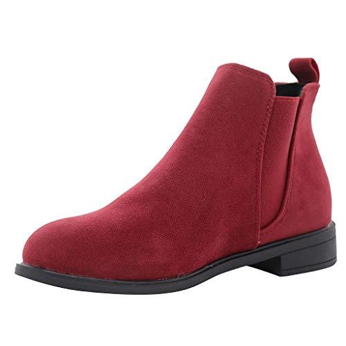 Unisex-Erwachsene Chelsea Boots Damen Stiefel Wasserdicht Kurz Stiefeletten Schuhe Herren Schneestiefel Combat Worker Boots