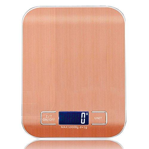 Tutoy Weiheng 10Kg 1G Edelstahl Digital Waage Elektronik Gewicht Balance Küche Lebensmittel Diät Kochen Measure Tool-Rose Gold