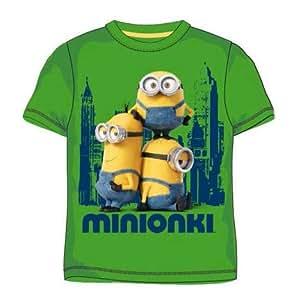 Kevin Bob & Stuart Green Minions T-Shirt Age 6/7