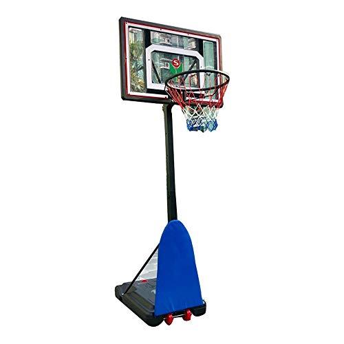 SUON Basketballkorb Höhe Einstellbare 130-180cm Basketball-Ständer Kinder Jugendliche Innen Draussen Mit Rädern Erwachsene Bruchsicher PVC-Rückwand