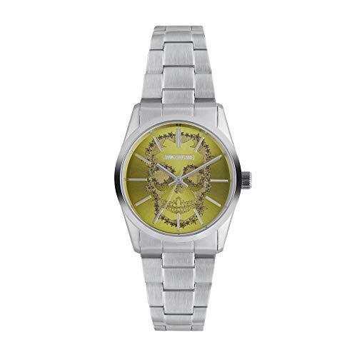 Orologio unisex Zadig & Voltaire al quarzo quadrante giallo 36mm e bracciale argento in acciaio zvt003