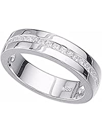 Sterling Silver Thumb Finger Ring Channel CZ Set