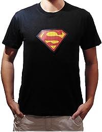 Superman LED T-shirt Allument Clignotant Sonore Activé Super Heros Fête Soirée
