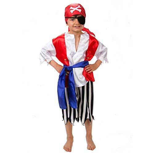 Pirat Kostüm Kinder - Piratenkostüm Kinder Gr 98 (3 Jahre alt) - Karnevalskostüm Pirat - Slimy Toad