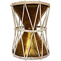 Handheld Brass Damroo Traditional Indian Folk Musical Percussion Instrument Large Drum Ideal For New Year Anniversary BirthDay Gift For Girl Woman Boy Man