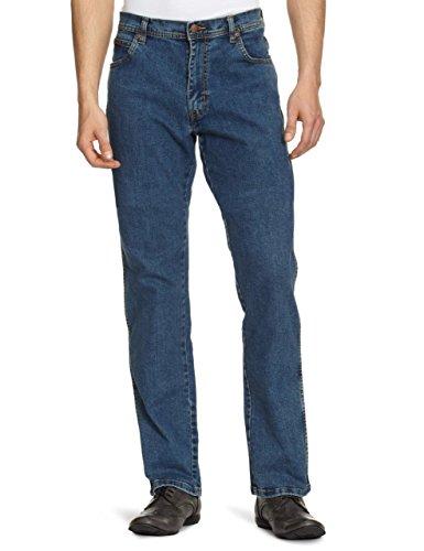 Wrangler Texas - Jeans - Droit - Homme  Bleu (Stonewash 010) W34/L32