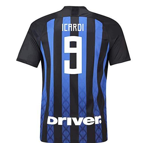 927f95e39 2018-19 Inter Milan Home Football Soccer T-Shirt Maillot (Mauro Icardi 9